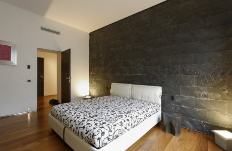 Rivestimento pietra camera da letto