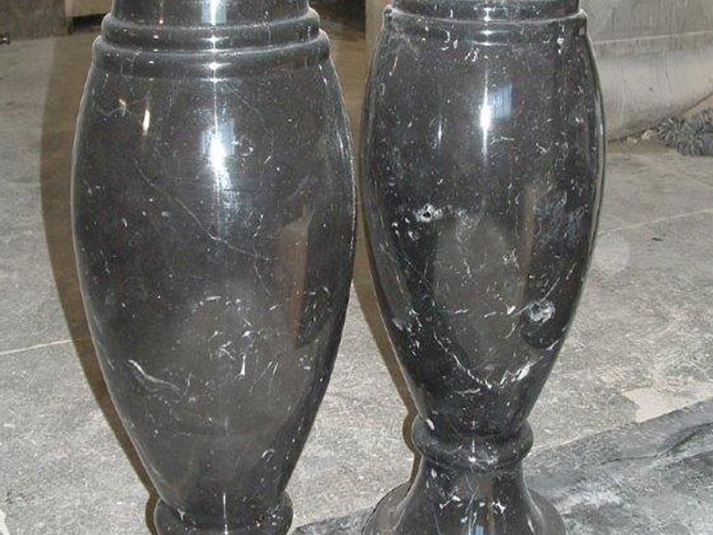 vases en marbre noir marquina brillant milgem. Black Bedroom Furniture Sets. Home Design Ideas